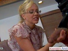 Bir BBC lanet sarışın öğretmen Julia Ann