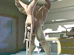 Sexy 3D cartoon babe blowing The Incredible Hulk