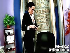 Stealing secretary is brutally punished by irate boss