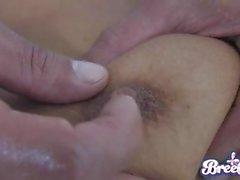Sexy di hot Bree Olson sta diventando suo twat cracked da una monster cock