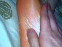 Sleepy foot fetish & Foot Massage