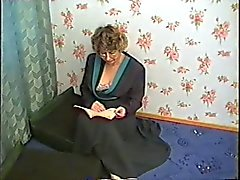 Stepmom with hairy cunr, hanging tits fucking with stepson