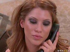 Busty phone girl Aleksa Nicole gets fucked by her boss