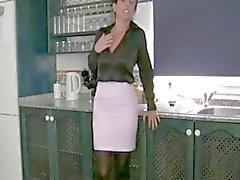 Hottest Milf in Lingerie Tries Cumcumber BVR