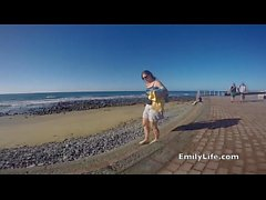 dogging at the beach with your neighbor MILF and housewife