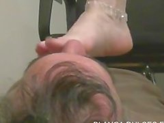 Blanca foot worship and footjob