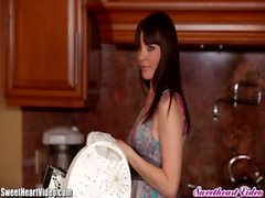 SweetHeart Sexy Strap On Session in the Kitchen