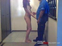 Pizza delivery dare girl 4