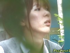 Japanilaiset teini teini pees n hankausta