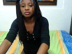 Ebony Student Handjob