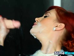Glam gloryhole ho gets bukkaked