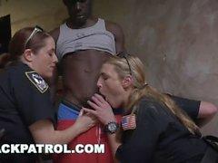 BLACK PATROL - Illegal Street Racing Black Thugs Get Busted By MILF Cops