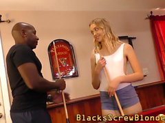 Blacked teen takes facial
