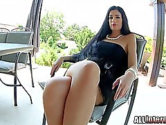 Beautiful April Blue has perfect smooth skin a round butt and a picture-perfect pussy that gets filled with cum