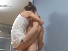 Russian couple coitus on a floor