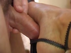 pounding feet, pins and ejaculation full shoejob