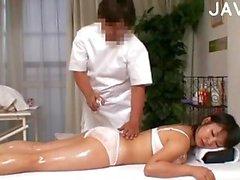 Japanese slut massaged