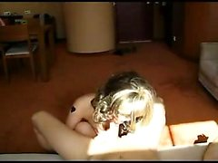 Slutty lady with glasses puts her amazing blowjob talents o