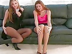 Minx in sexy hose feels severe love tunnel itching