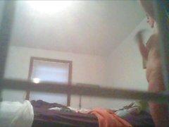 Real Hidden Cam ! Kasey nues et se prépare du jour