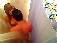 Hot sweetheart fucked under bath