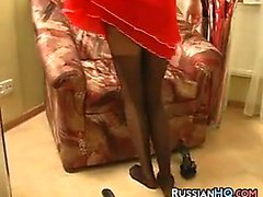 Russian Teen In Black Pantyhose