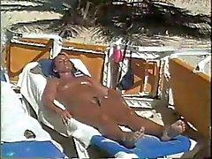 Sexy beach girl-nudist