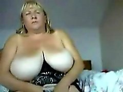 Me 47 yo and huge naturals on home webcam