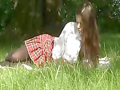 Caprice is a tender tart who gets screwed by her beau on the lawn