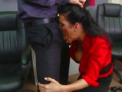 Hot brunette whore Shay Sights enjoys getting her mouth rammed by a massive cock
