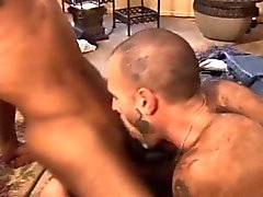 White Gay in interracial 3some fucking