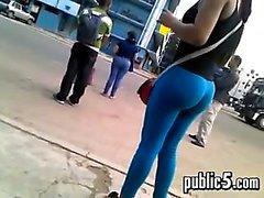 Amazing Ass Wearing Tight Blue Pants