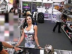 Bigtitted latina pawnee rides pawners cock