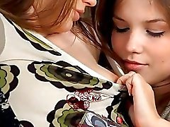 Two damn hot teens have hot lesbian sex