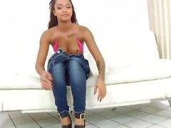 Ebony Babe In Tights