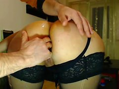 Sultry brunette and her kinky boyfriend fulfilling their an