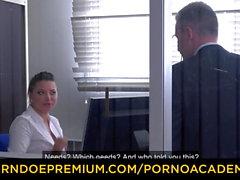 PORNO ACADEMIE - Anna Polina sucks BBC and enjoys deep anal