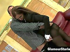 Clothed euro hoe sucks dick