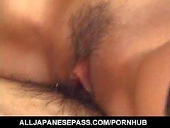 Yoshiki Aogiri dispone culo e a fessura piena di sperma caldo dopo avere fatto doppio di Teaming