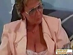Old business woman gets rough anal