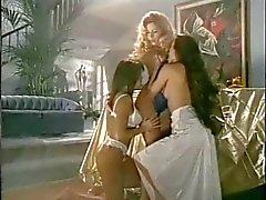 Classic lesbian threesome