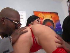 Double penetrated Jasmine Jae gets a monthly treat of BBC