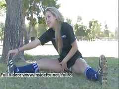 Alanna _ Amateur soccer babe flashing her boobs in public