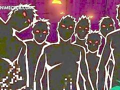 Vollbusige anime 3d Babe geben Meise Job ruft der ganzen vollgespritzt