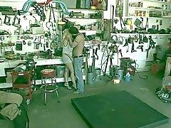Rubia Captado por la Garaje Cámara escondida