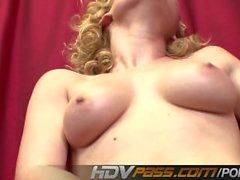 HDVPass Lovely Blonde Babe Lily Labeau Gives a Perfect Blowjob Before Ridin