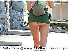 Riley lovely blonde girl flashing and toying pussy and flashing ass outdoors and undressing