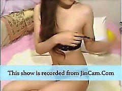 Minou poilu timide de asiatique de fille un chat en direct sexe