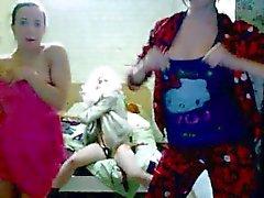 Zeer Hete Russische tieners plagen Dans voor Webcam
