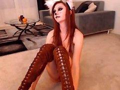 My Thai GF despojado para mim pela webcam